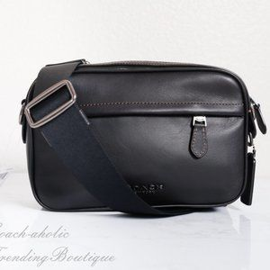NWT Coach Smooth Leather Graham Crossbody in Black